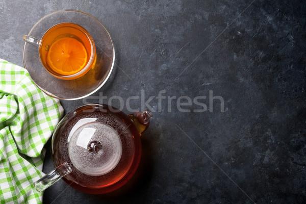 Demlik taş tablo üst görmek Stok fotoğraf © karandaev
