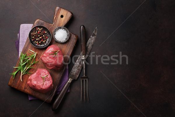 Raw fillet steak Stock photo © karandaev