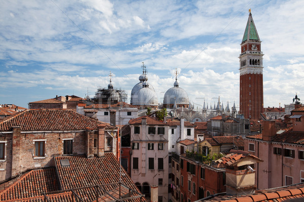 Stock photo: Panorama view of the roofs of Venice, Italy