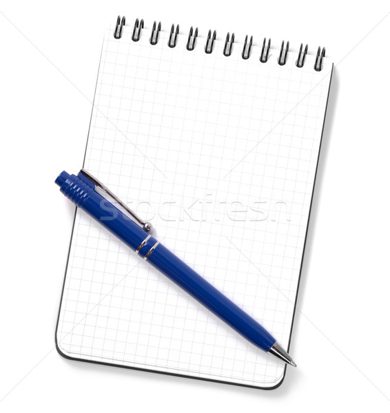 Blank notepad with pen Stock photo © karandaev