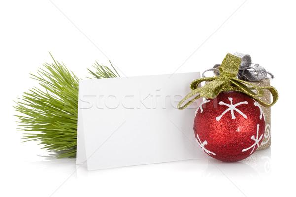 空っぽ クリスマス ギフトカード 孤立した 白 ストックフォト © karandaev