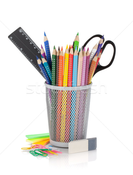 Stockfoto: Kleur · potloden · kantoor · tools · geïsoleerd