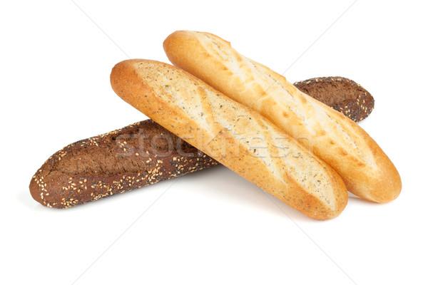 Francés baguette aislado blanco trigo Foto stock © karandaev