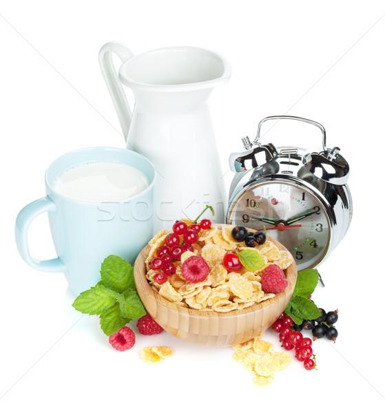 свежие Ягоды молоко Кубок Сток-фото © karandaev