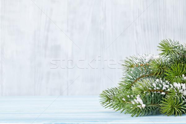 Foto d'archivio: Natale · legno · neve · view · copia · spazio
