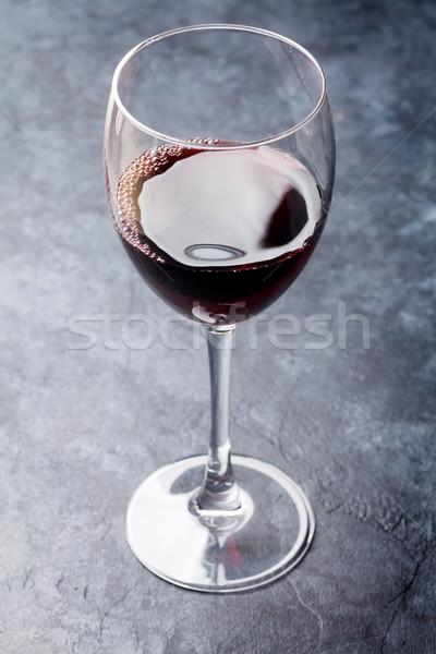 стекла каменные таблице вино фон Сток-фото © karandaev