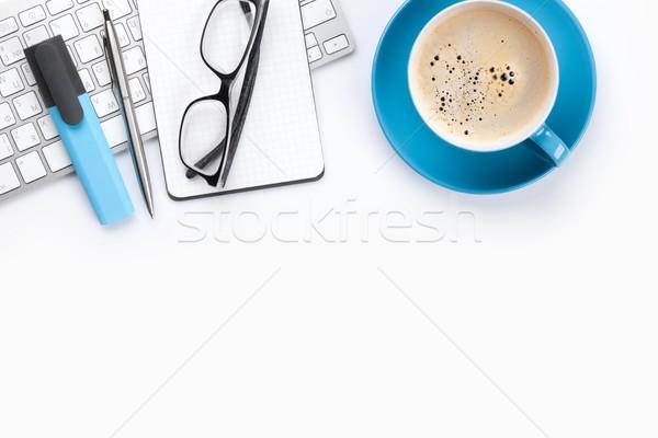白 咖啡 計算機 頂部 商業照片 © karandaev