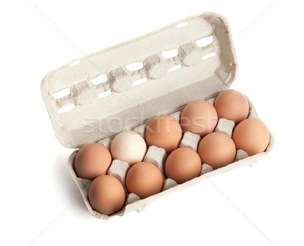 the hen's eggs in pack Stock photo © karandaev