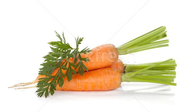 Сток-фото: свежие · зрелый · морковь · изолированный · белый · продовольствие