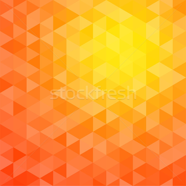 Stock photo: Abstract triangle mosaic gradient background