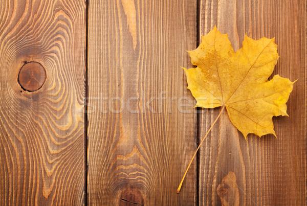 желтый Maple Leaf копия пространства природы лист пространстве Сток-фото © karandaev