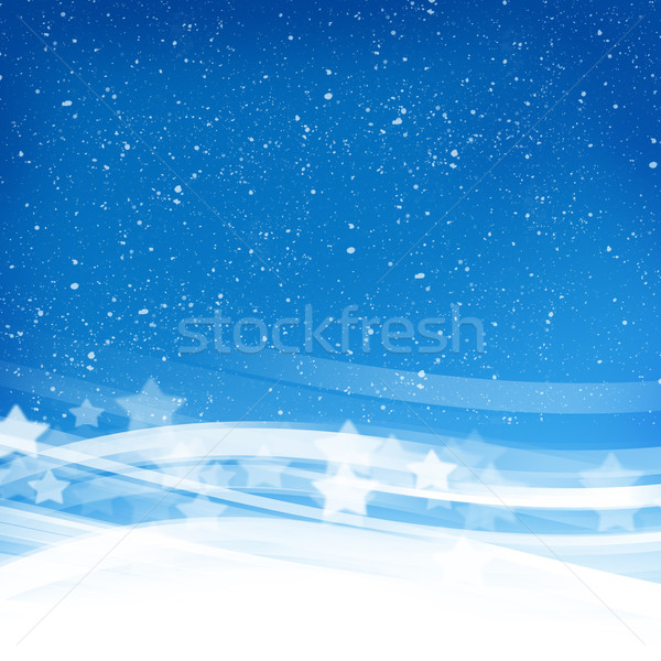 Stock photo: Abstract blue wave background