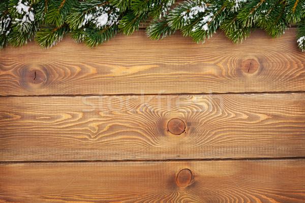 Christmas śniegu rustykalny kopia przestrzeń Zdjęcia stock © karandaev