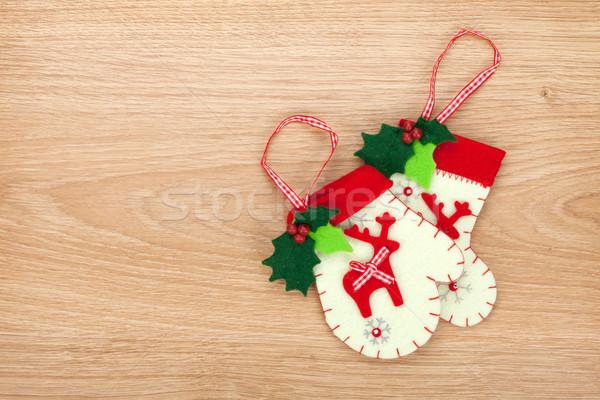 Noel ahşap bo doku ahşap Stok fotoğraf © karandaev