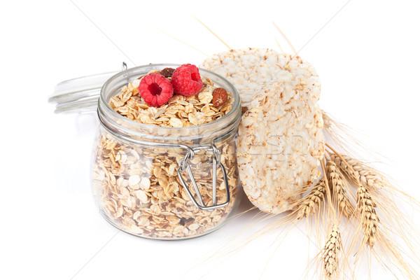 Sani colazione muesli frutti di bosco isolato bianco Foto d'archivio © karandaev