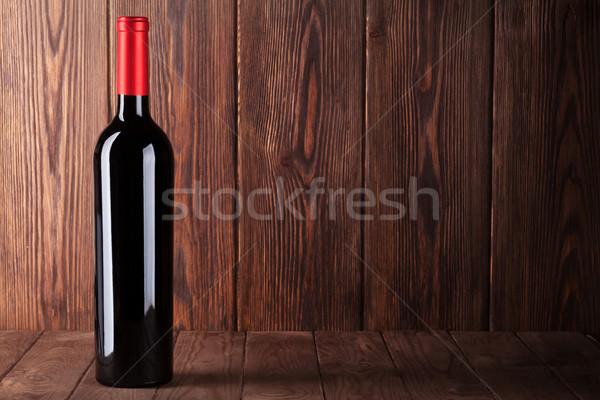 赤ワイン ボトル 木製のテーブル 表示 コピースペース テクスチャ ストックフォト © karandaev