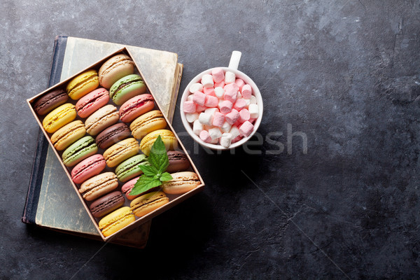 Colorful macaroons in a box Stock photo © karandaev