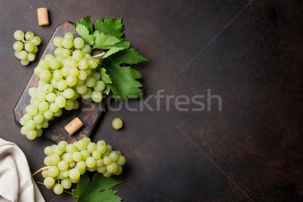 üzüm taş üst görmek uzay şarap Stok fotoğraf © karandaev