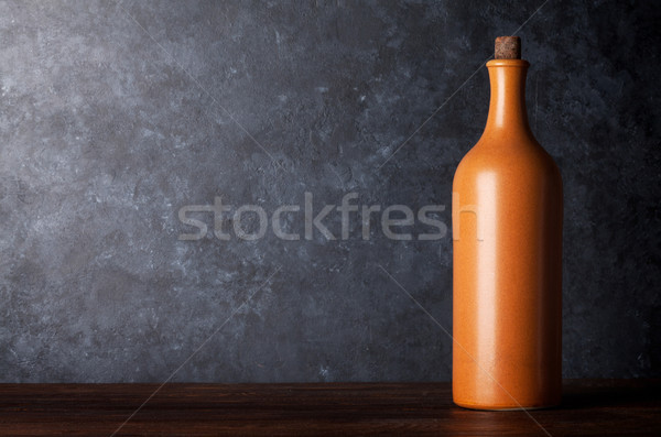 Red wine bottle Stock photo © karandaev