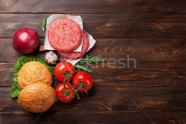 Stockfoto: Smakelijk · gegrild · koken · rundvlees · tomaat
