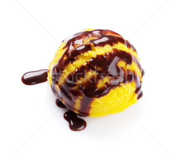 Crème glacée évider chocolat isolé blanche fruits Photo stock © karandaev