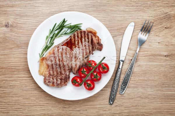филей стейк помидоры черри пластина Сток-фото © karandaev