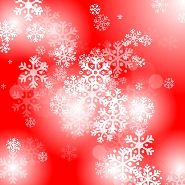 аннотация красный Рождества снега искусства Сток-фото © karandaev