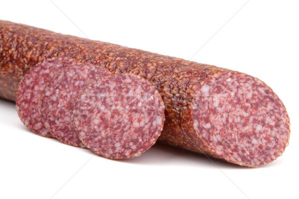 Slices italian salami sausage Stock photo © karandaev