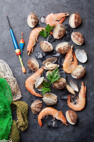 Vers zeevruchten steen tabel top Stockfoto © karandaev
