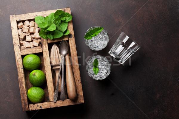 Mojito koktajl składniki polu bar Zdjęcia stock © karandaev