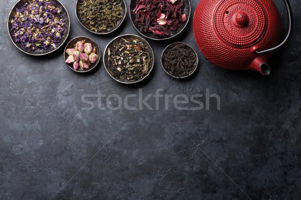 Secar chá bule preto Foto stock © karandaev