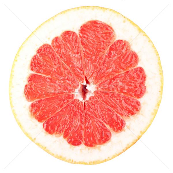 Makró étel gyűjtemény grapefruit szelet izolált Stock fotó © karandaev