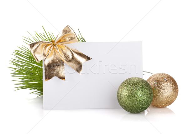 Vacío Navidad tarjeta de regalo aislado blanco Foto stock © karandaev