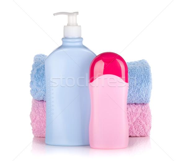 şampuan jel şişeler yalıtılmış beyaz Stok fotoğraf © karandaev