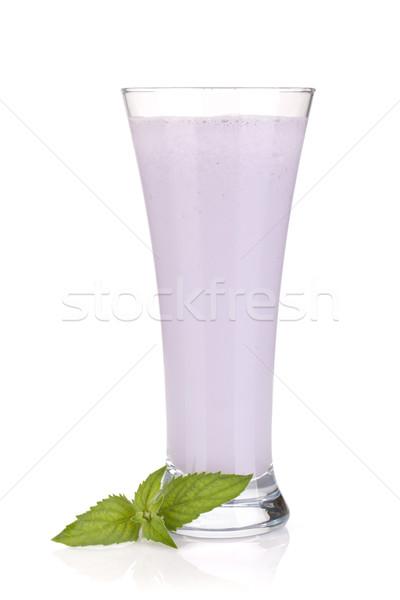 Amora preta leite de isolado branco Foto stock © karandaev