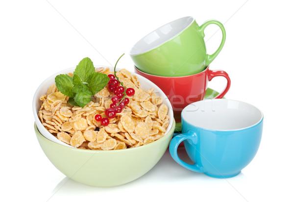 Vers cornflakes bes kleurrijk geïsoleerd Stockfoto © karandaev