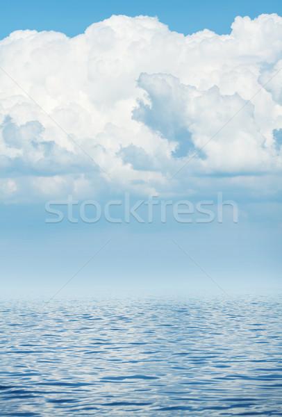 Morza horyzoncie mętny niebo fali chmury Zdjęcia stock © karandaev