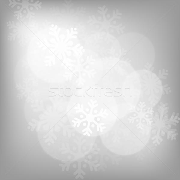 Abstract silver christmas background Stock photo © karandaev