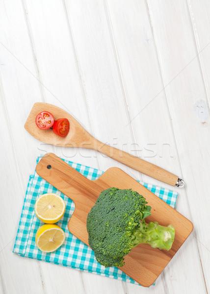 Fresh fruits and vegetables Stock photo © karandaev