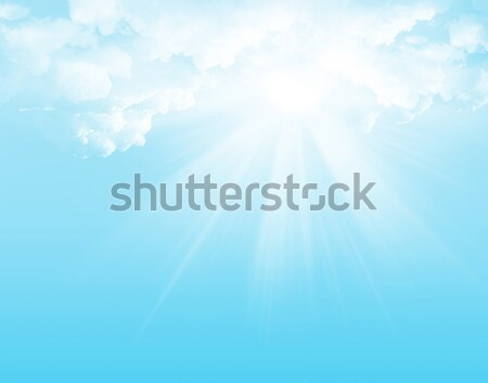 Blue sky, clouds and sun abstract illustration Stock photo © karandaev