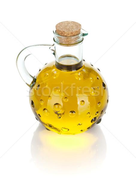 Vintage olive oil bottle Stock photo © karandaev