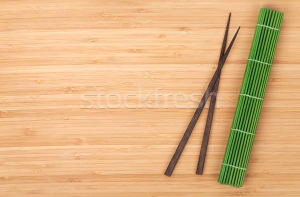 Çin yemek çubukları bambu tablo bo gıda mutfak Stok fotoğraf © karandaev