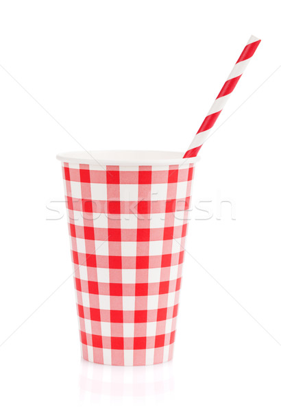 Paper cup with takeaway drink Stock photo © karandaev