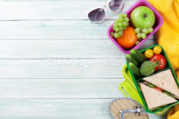Vacation lunch box and items Stock photo © karandaev