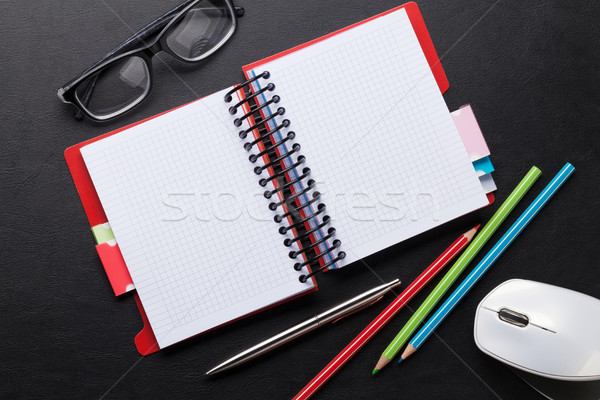 Notepad espace affaires bureau Photo stock © karandaev