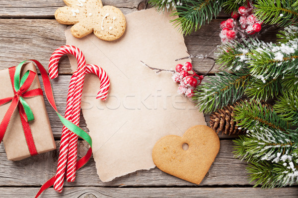 Noël pain d'épice cookies coeur bonbons Photo stock © karandaev