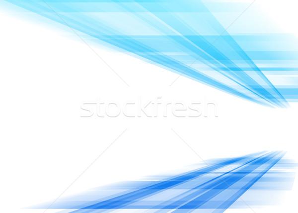 Coloré perspectives résumé gradient fond bleu Photo stock © karandaev
