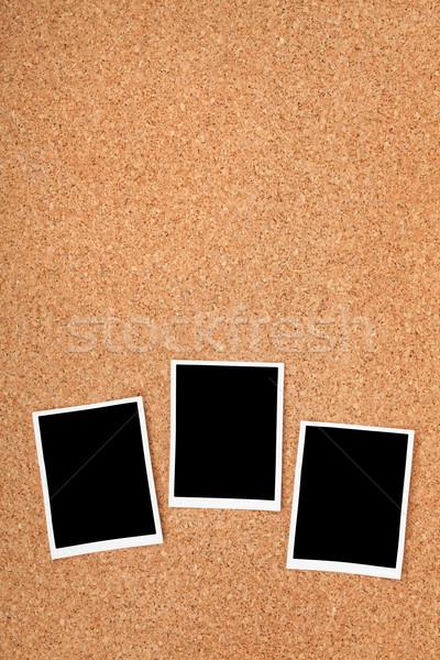 Сток-фото: Polaroid · фото · кадры · пробка · текстуры · копия · пространства
