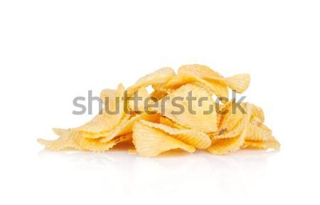 Chips hoop geïsoleerd witte partij achtergrond Stockfoto © karandaev