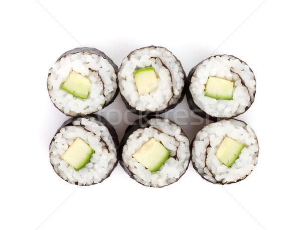 Sushi maki pepino isolado branco comida Foto stock © karandaev
